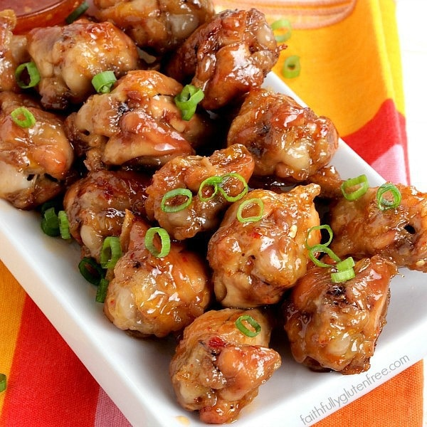 Be the winner with these Crispy Sweet and Sour Chicken Wings from Faithfully Gluten Free. Baked, not fried, your friends will love you!