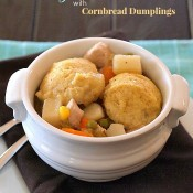 Gluten Free Turkey Stew with Cornbread Dumplings | The Baking Beauties