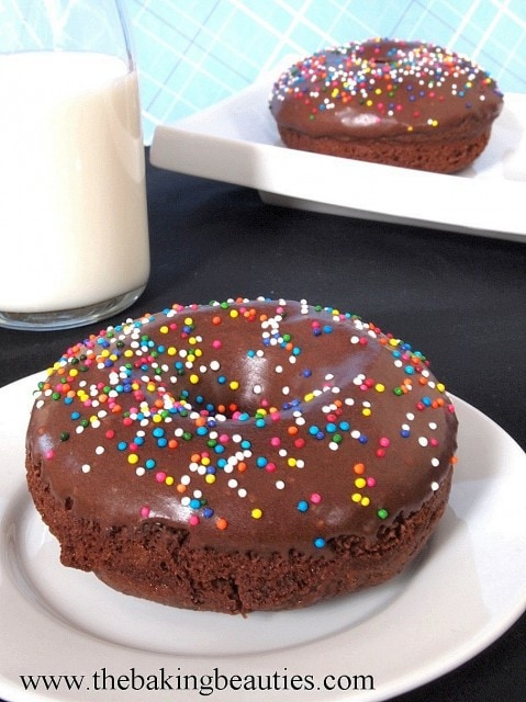 Gluten Free Chocolate Cake Doughnuts from The Baking Beauties