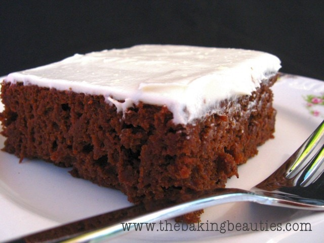 Gluten Free Chocolate Pumpkin Sheet Cake from The Baking Beauties