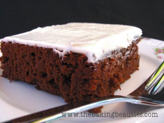 Gluten Free Chocolate Pumpkin Sheet Cake from The Baking Beauties