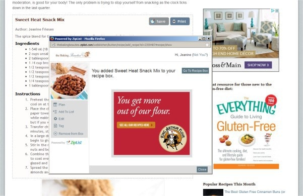How to use Ziplist to save your recipes to a virtual recipe box