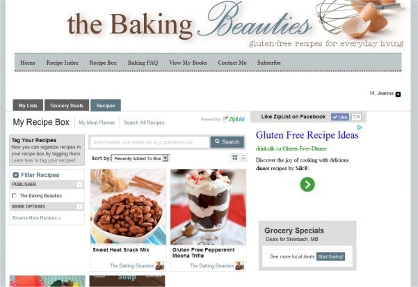 How to use Ziplist to create your own virtual recipe box