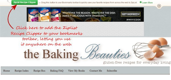 How to use Ziplist to create a virtual recipe box