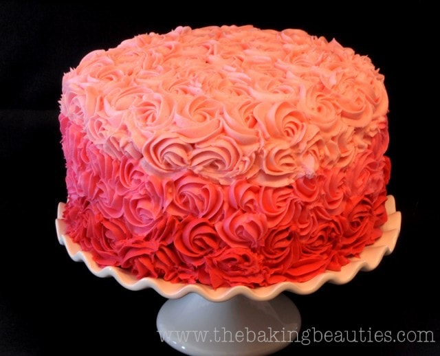 The perfect Gluten Free Vanilla Layer Cake with Rose Buttercream Tutorial