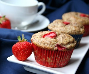 Gluten Free Strawberry Flax Yogurt Muffins from All Day I Dream About Food