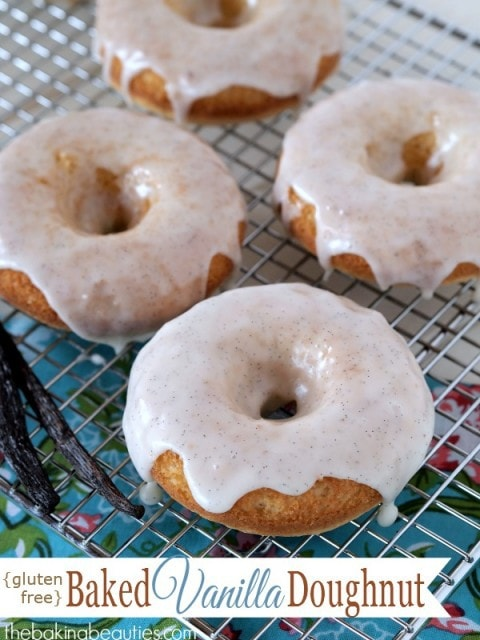 Gluten Free Baked Vanilla Doughnuts by The Baking Beauties