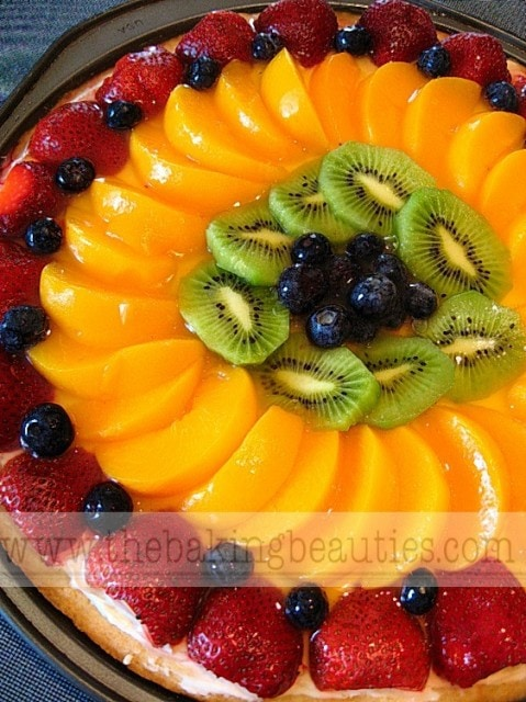 Gluten Free Fruit Pizza from The Baking Beauties