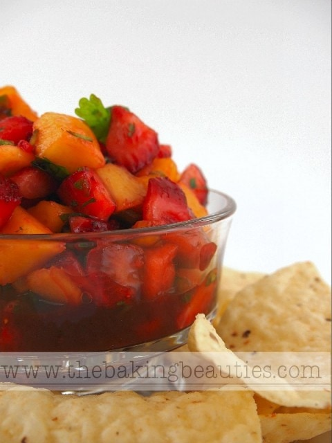 Strawberry Mango Salsa by The Baking Beauties