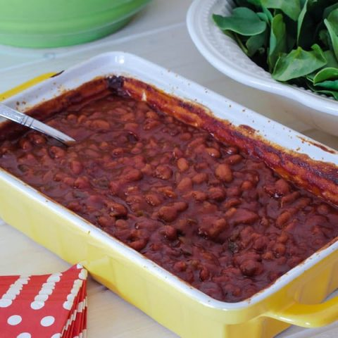 Making the Best Baked Beans is easy when you use bought beans as the base, and then jazz them up to customize them.