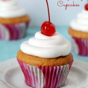 Gluten Free Cherry Chip Cupcake from The Baking Beauties