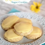 Gluten Free Lemon Sugar Cookies from The Baking Beauties