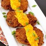 Quinoa Crusted Chicken with Mango Chili Sauce #chickenchallenge
