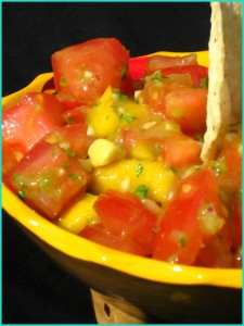 Mango, Avocado and Tomato Salsa from The Baking Beauties