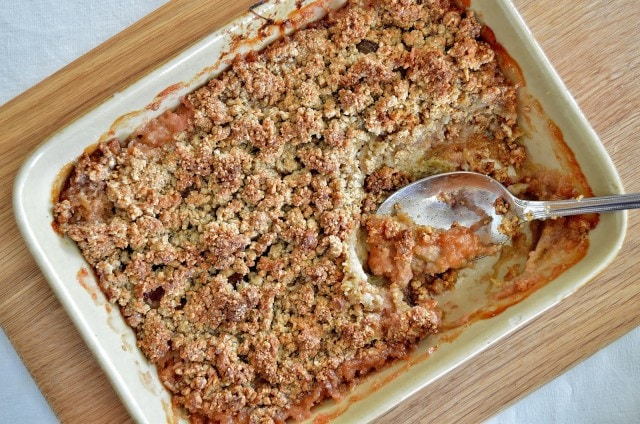 Grain Free Rhubarb Crumble from Gluten Free SCD and Veggie