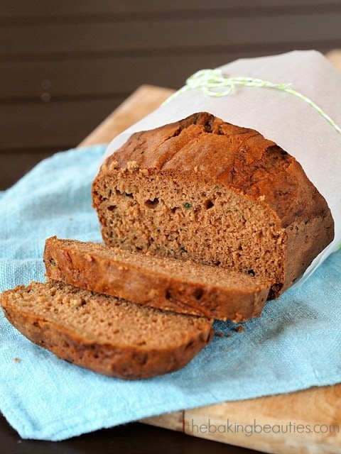Gluten Free Zucchini Bread from The Baking Beauties