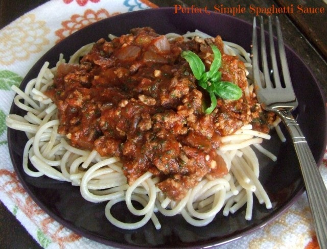 Perfectly, Simple Spaghetti Sauce from Cassidy's Craveable Creations