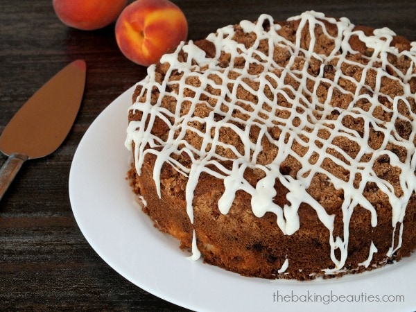 Gluten Free Blueberry Peach Coffee Cake from Faithfully Gluten Free