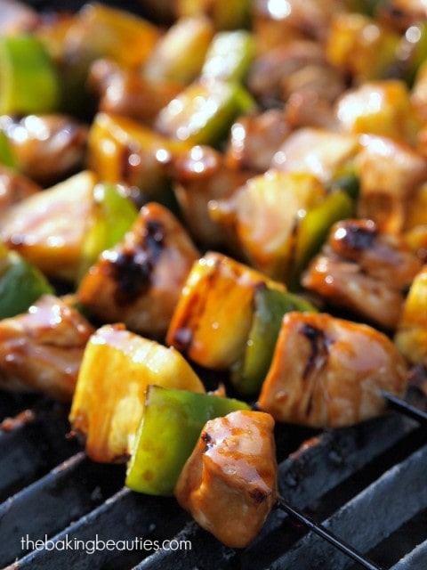Gluten Free Chicken Teriyaki Kabobs from The Baking Beauties