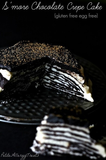 S'more Chocolate Crepe Cake from Petite Allergy Treats