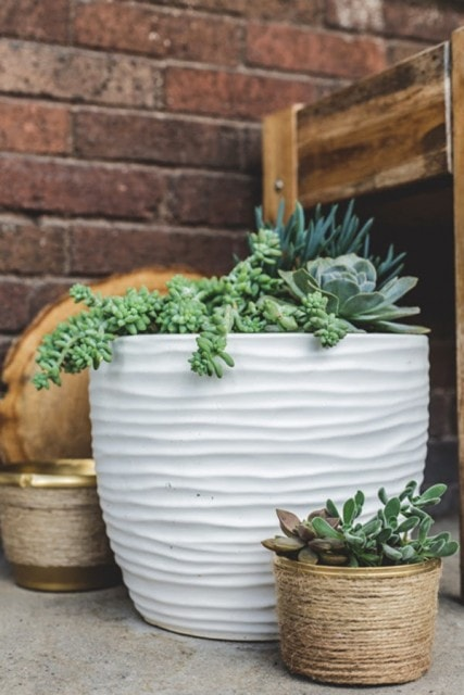 DIY Twine Planter from dearest darling