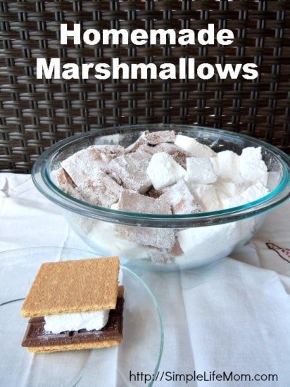 Homemade Marshmallows by Simple Life Mom