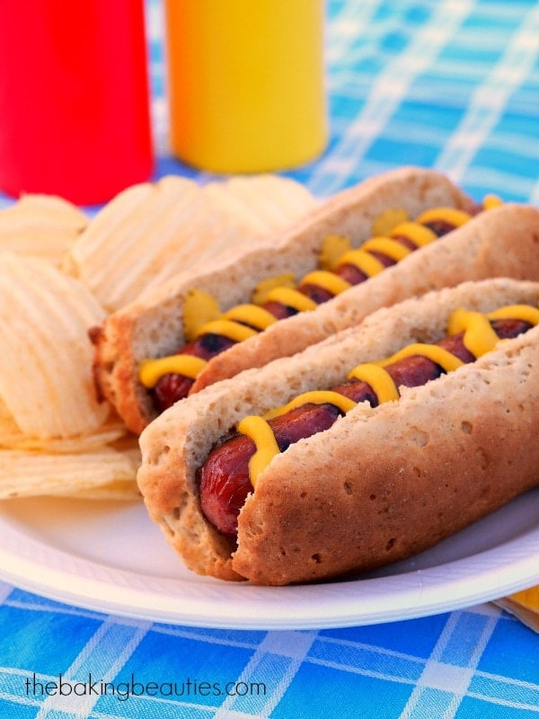 Gluten Free Hot Dog or Hamburger Buns from The Baking Beauties #OnlyOats