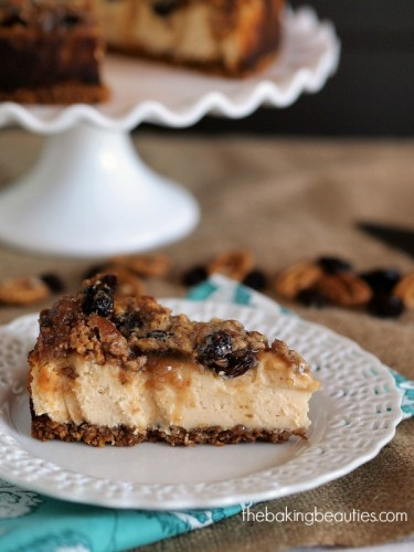 Gluten Free Maple Butter Tart Cheesecake by The Baking Beauties