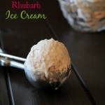 No Churn Rhubarb Ice Cream