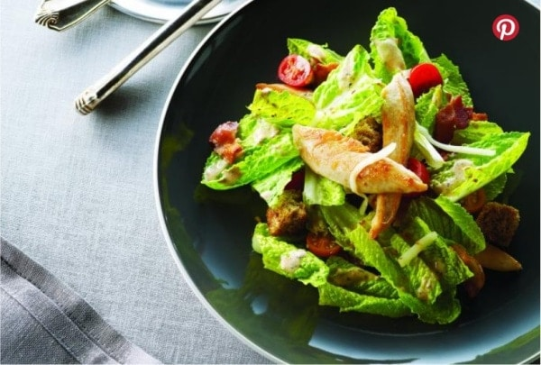 Chicken BLT Salad with Sour Cream Dressing
