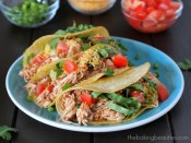 Easy Shredded Turkey Tacos from The Baking Beauties