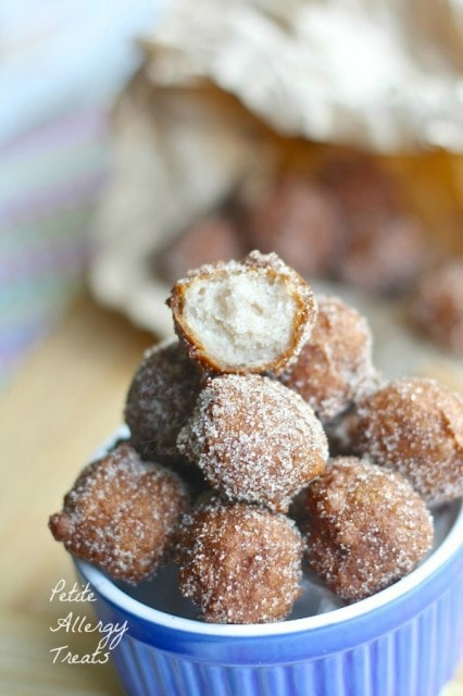 Gluten Free Fried Doughnut Holes from Petite Allergy Treats