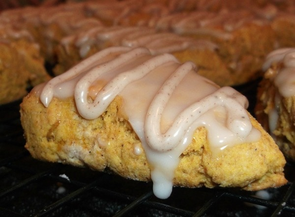 Pumpkin Scones (Gluten, Dairy & Soy Free) from The Rice of Life