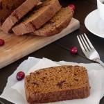 Gluten Free Pumpkin Cranberry Bread