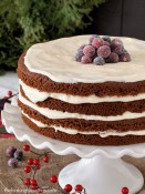 Moist Gluten Free Gingerbread Cake with Eggnog Cream Cheese Frosting from The Baking Beauties