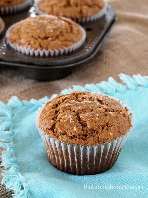 Bring the coffee shop home with these Gluten Free Gingerbread Muffins from The Baking Beauties
