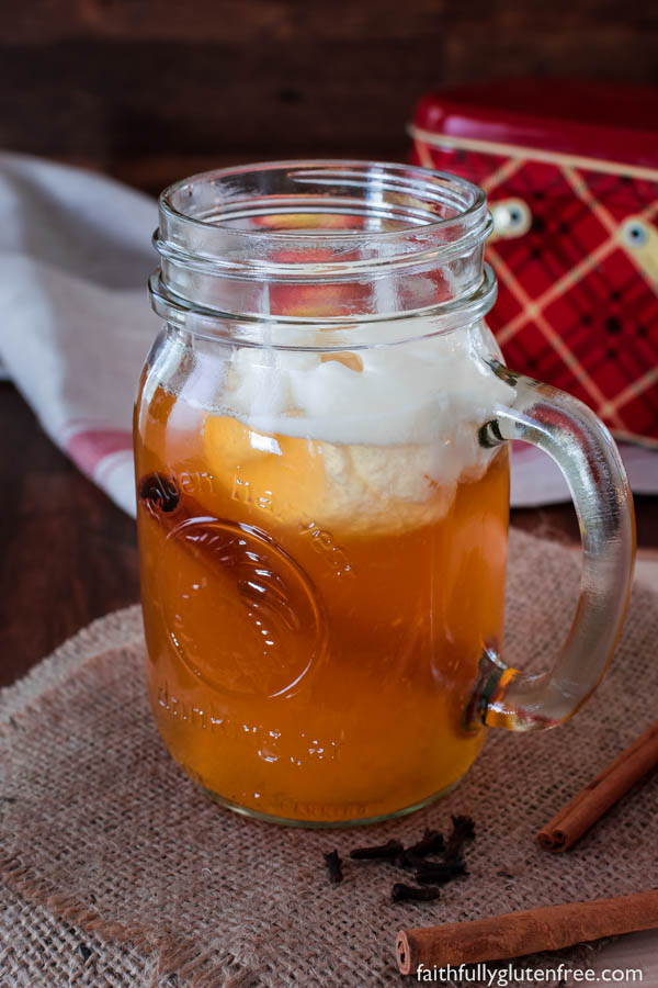 Just because you don't press your own apples, doesn't mean that you can't enjoy a warm mug of cider - this Spiced Apple Cider is made from apple juice.