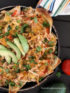 Easy Chicken Nachos from The Baking Beauties