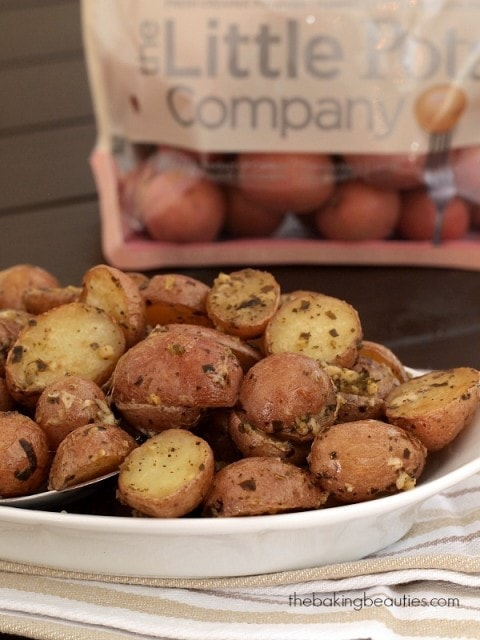 Pesto Roasted Potatoes from The Baking Beauties