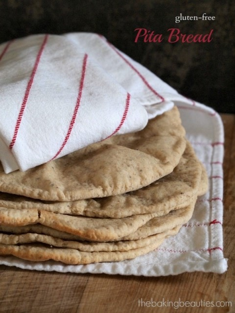 Gluten Free Pita Bread from The Baking Beauties