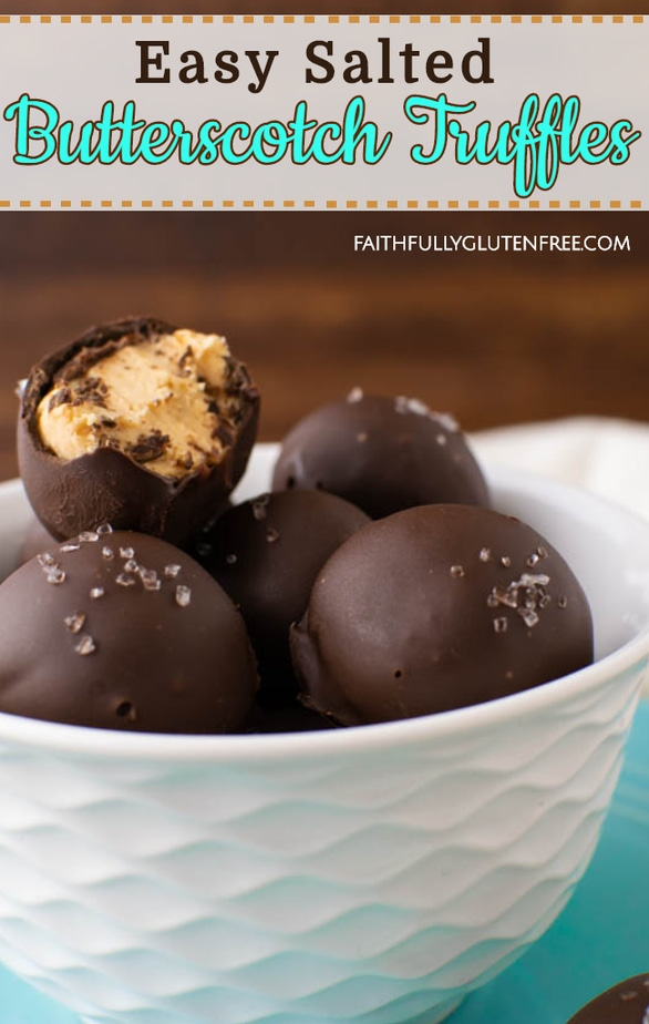 Easy Salted Butterscotch Truffles