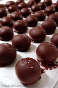 Easy Salted Butterscotch Truffles from The Baking Beauties