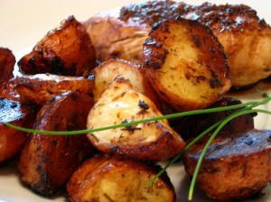 Balsamic Roasted Red Potatoes from The Baking Beauties