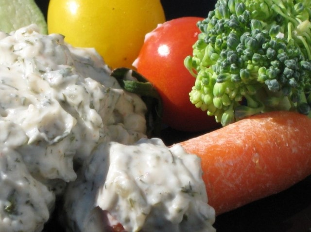 Quick and Easy Dill Dip from Scratch from The Baking Beauties