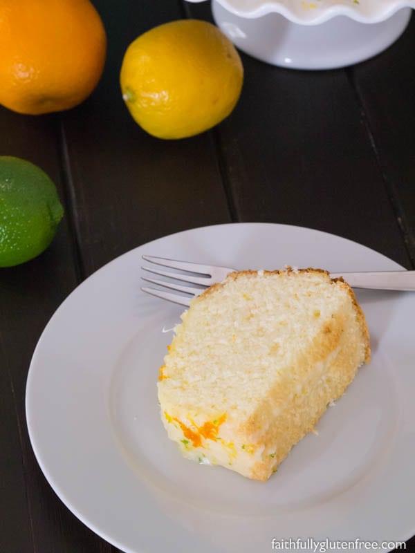 Gluten Free Citrus Chiffon Cake