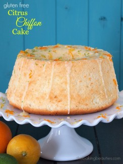 Gluten Free Citrus Chiffon Cake from The Baking Beauties