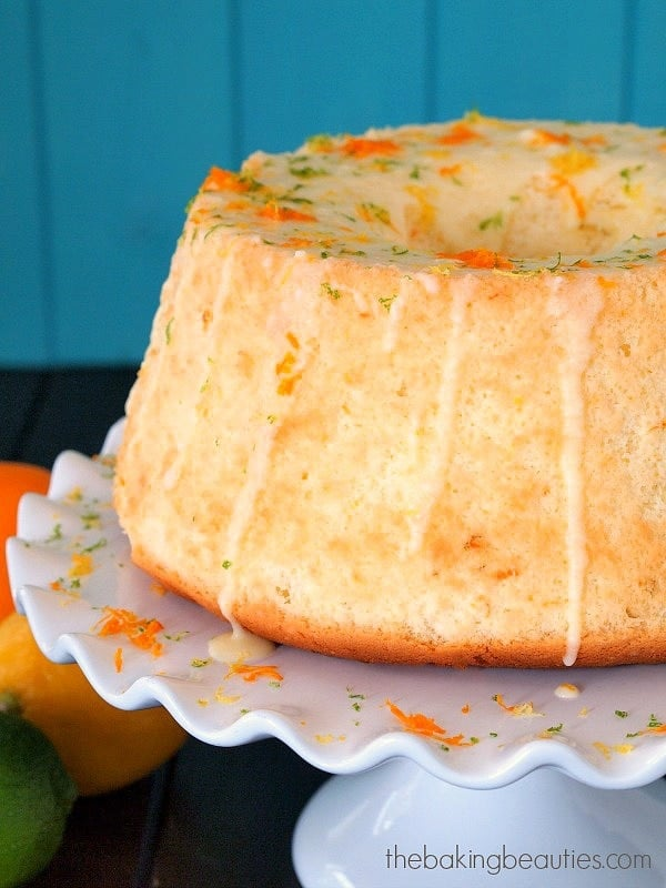 ... this light Gluten Free Citrus Chiffon Cake from Faithfully Gluten Free