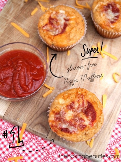 Gluten Free Pizza Muffins from The Baking Beauties