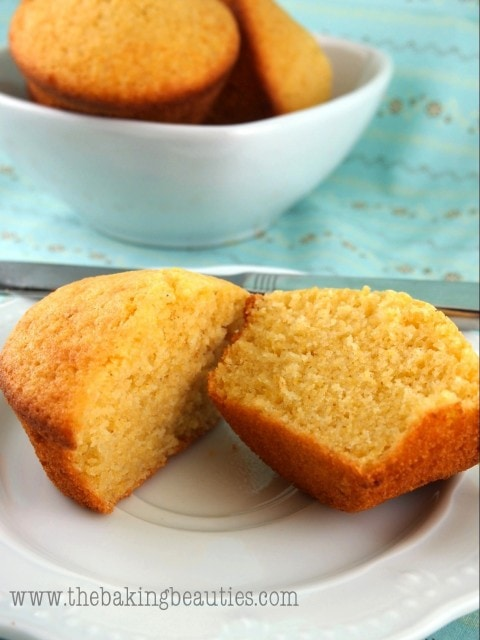 Gluten Free Buttermilk Cornbread Muffins from The Baking Beauties