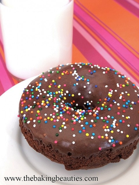 Gluten Free Chocolate Baked Doughnuts